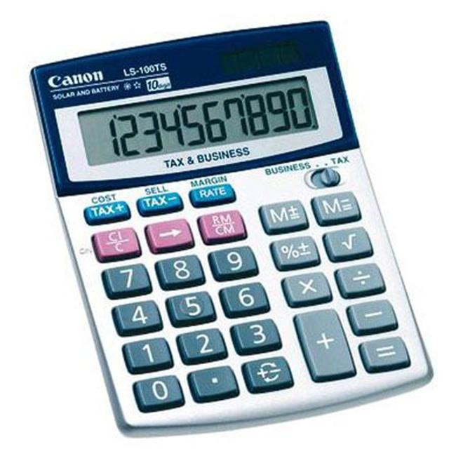 CANON 5936A028 Portable Desktop Business Calculator with 10-Digit LCD
