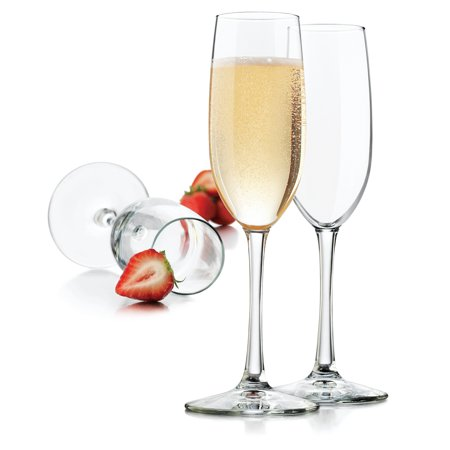 Libbey Vineyard 8 oz Clear Champagne Glasses, Set of 8](Bridesmaid Champagne Flutes)