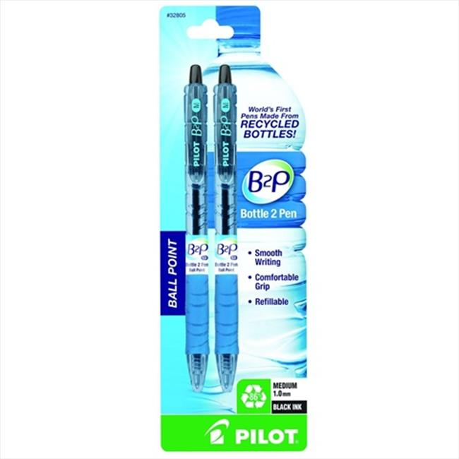Pilot Retractable Ball Point Pens Made from Recycled Bottles