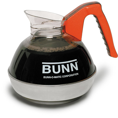 BUNN Easy Pour 12-Cup Commercial Decanter, Orange - Decaf, 6101.0101