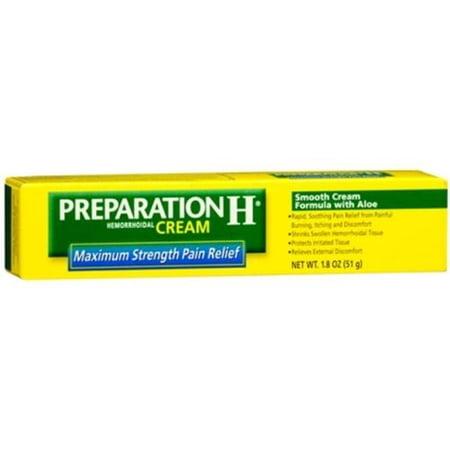 Preparation H Force maximale hémorroïdaire Crème 1,8 oz (Pack de 4)