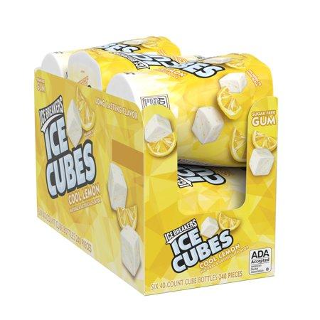Ice Breakers, Ice Cubes, Sugar Free Cool Lemon Chewing Gum, 3.24 Oz, 6 Ct