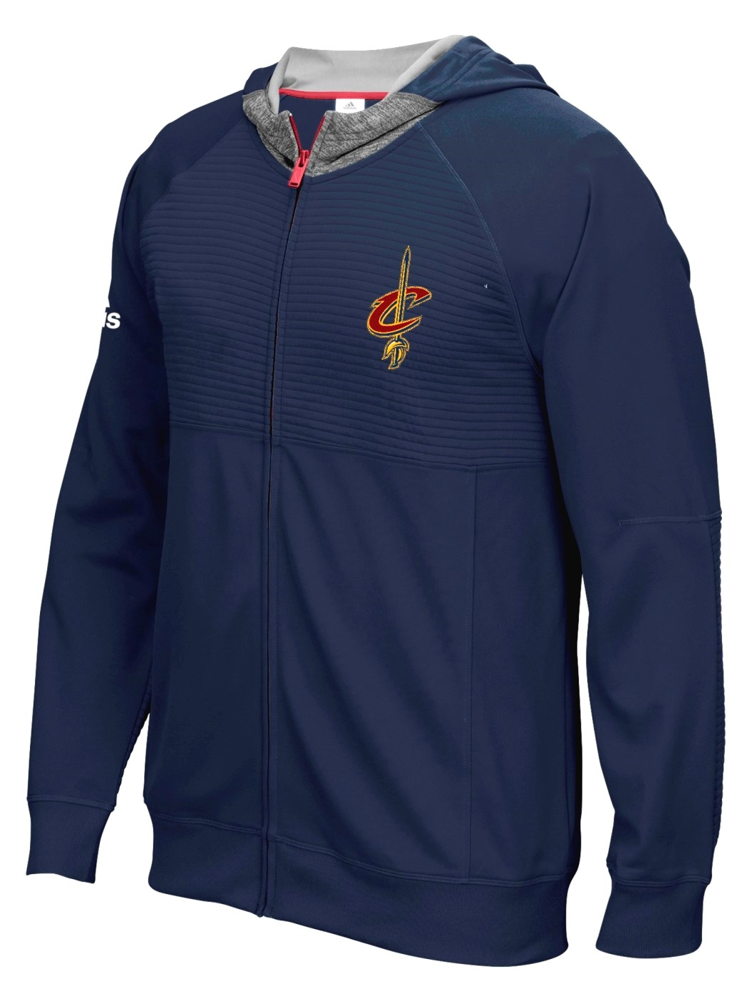 """Cleveland Cavaliers Adidas 2016 NBA On-Court """"Pre-Game"""" Full Zip Hooded Jacket by Adidas"""