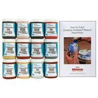 Duncan INKIT-1 Envision Glaze Kit for Ceramics - Set of 12 Colors in 4 Ounce Jars with Free How to Paint Ceramics Booklet