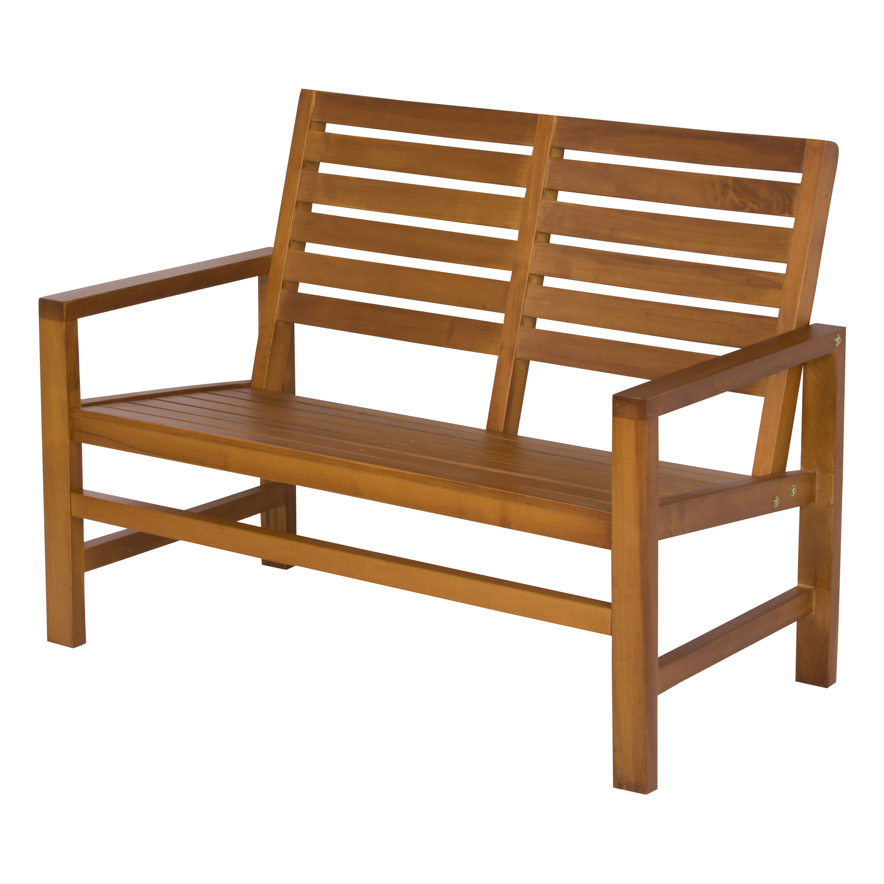 Shine Company Contemporary Garden Bench 40 in. - Oak