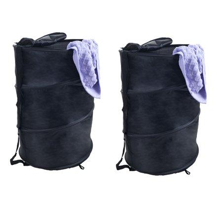 d0ba74a31506 Windsor Home Pop-up Zipper Top Breathable Laundry Hamper (Set of 2)