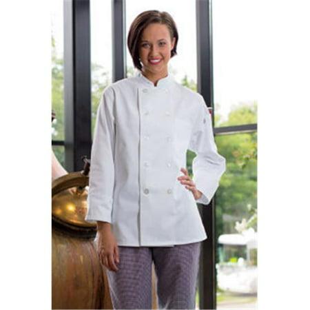 Uncommon Threads 0475-2509 Napa Ladies Coat in White - 5XLarge