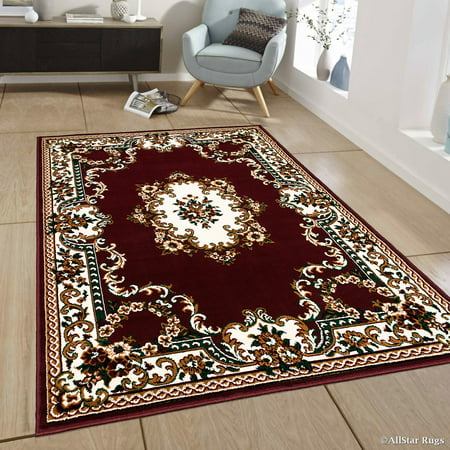 Allstar Burgundy Woven High Quality Rug Traditional