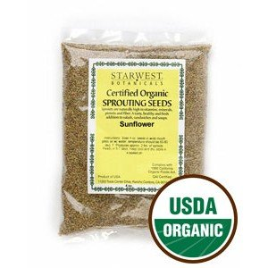 Sunflower Sprouting Seeds Organic Starwest Botanicals by Starwest Botanicals Inc.