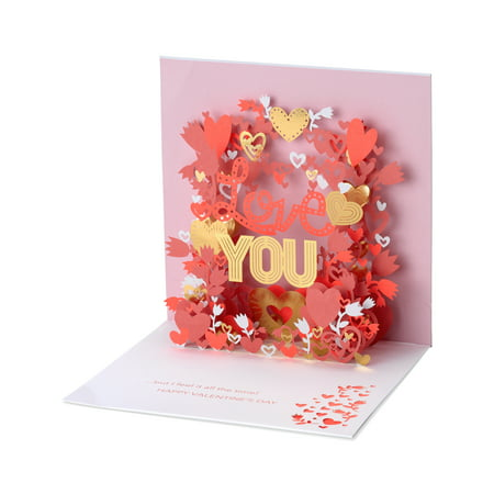 American Greetings Love You Valentine's Day Pop-Up - Easy Halloween Pop Up Cards