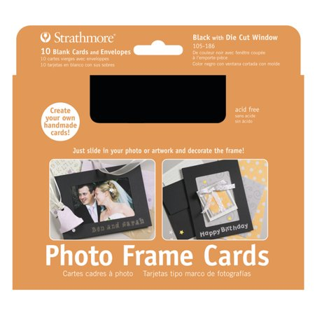 Strathmore Photo Frame Cards, 5in x 7in, Black, 10/Pkg.