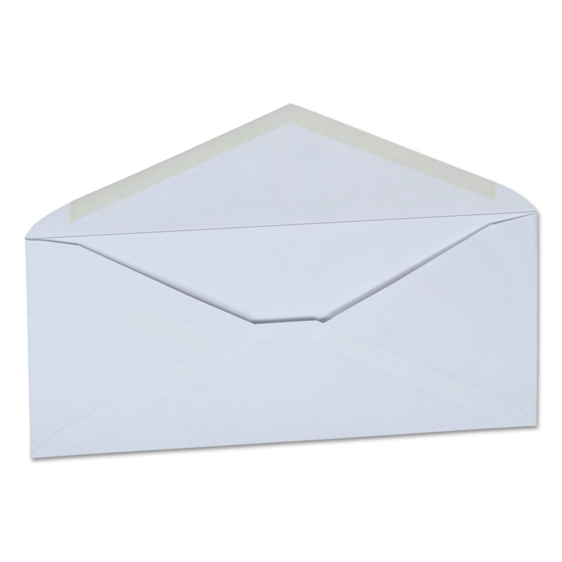 Office Impressions Plain Envelopes, #10, 4 1/8 x 9 1/2, White, 500/Box