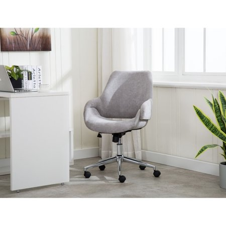 Porthos Home Brice Office Chair With Adjustable Height And 360° Swivel In Fabric Upholstery - 5 Stationary Footers And Roller Caster Wheels (Stationary Caster)
