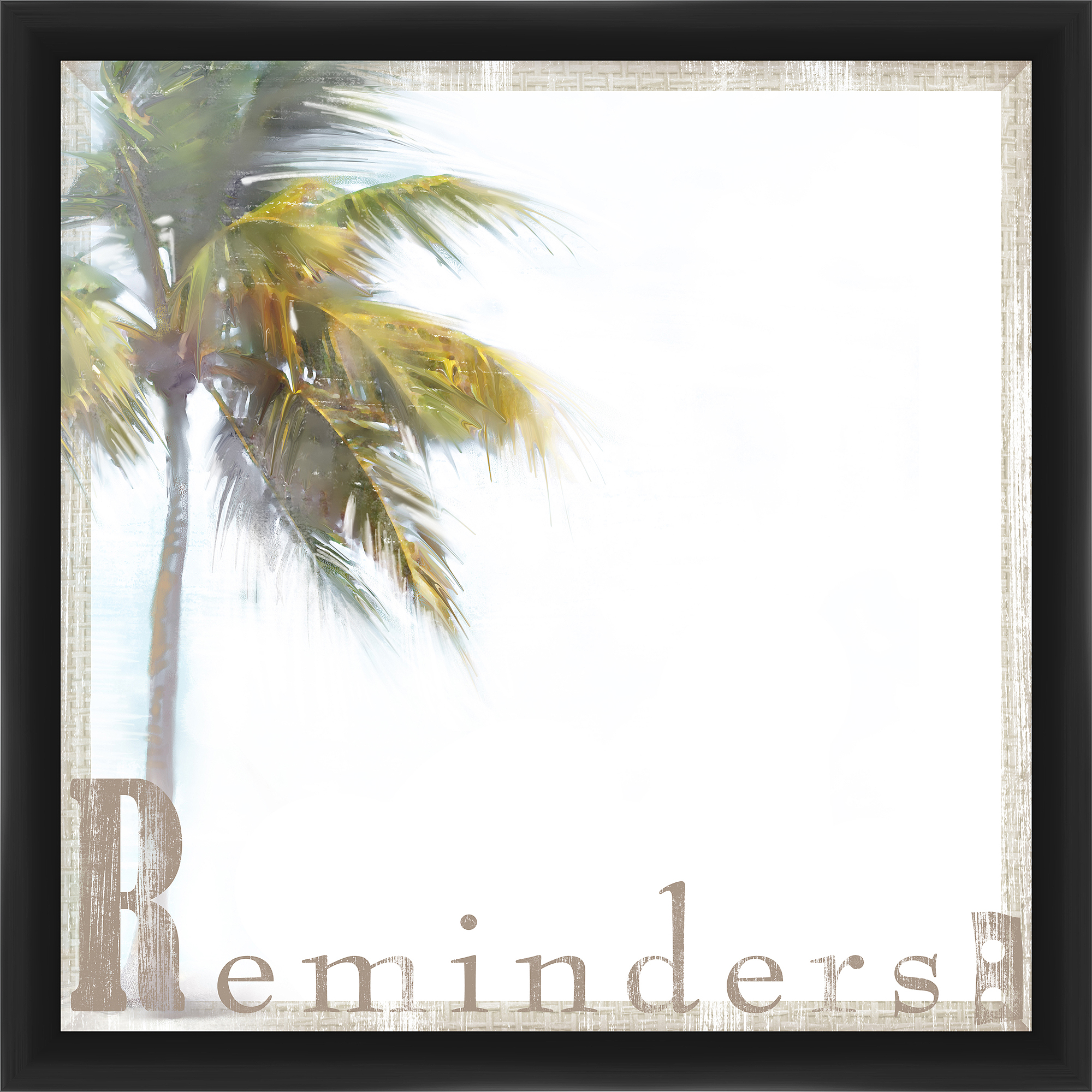 Palm Reminder Black Memoboard