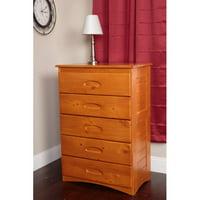 American Furniture Classics 5-Drawer Chest, Honey Finish
