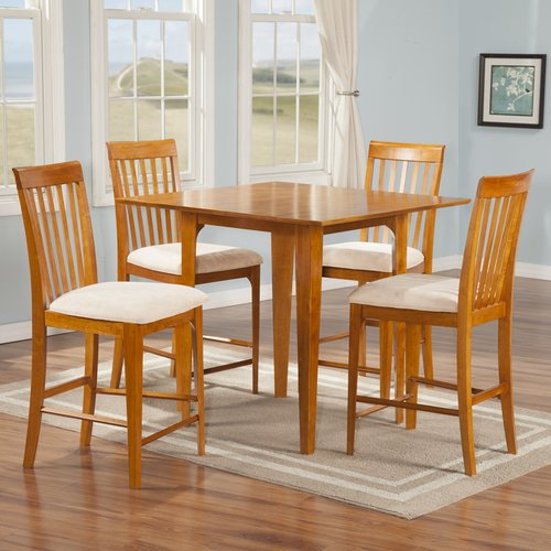 atlantic furniture montreal 5 piece counter height pub table set