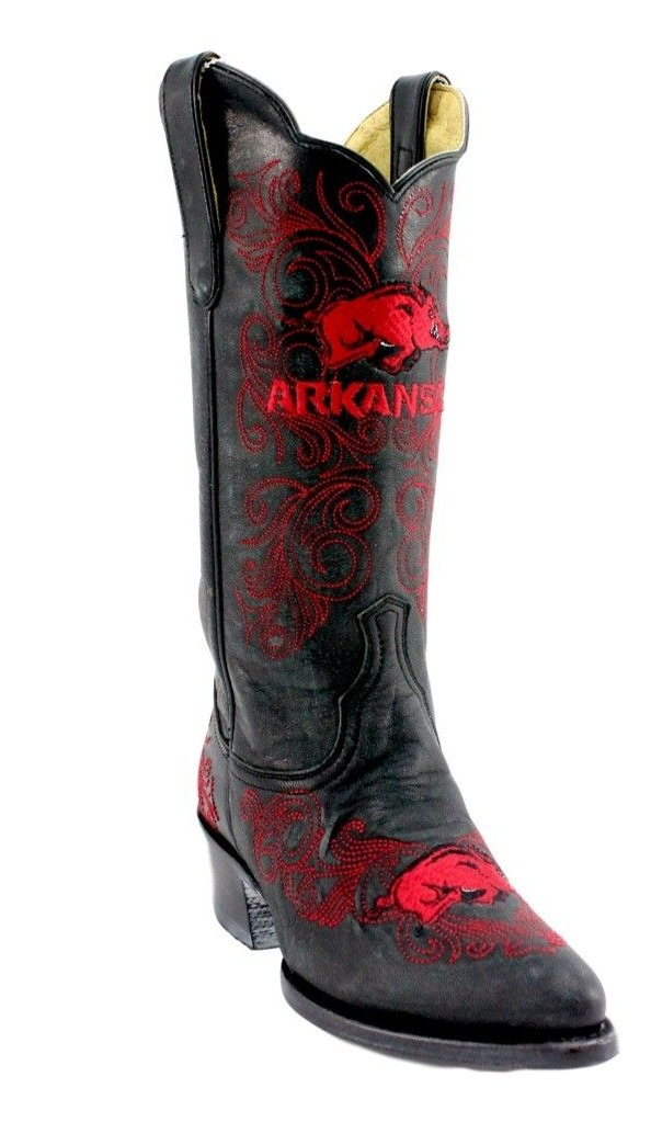 Gameday Boots Womens Western Arkansas Razorbacks Leather ARK-L323-1 by Gameday Boots