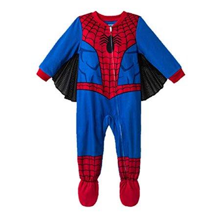 Spiderman Spidey Spider Man Toddler Boys Footed Pajamas Blanket Sleeper Wings (5t)](Spiderman Adult Onesie)