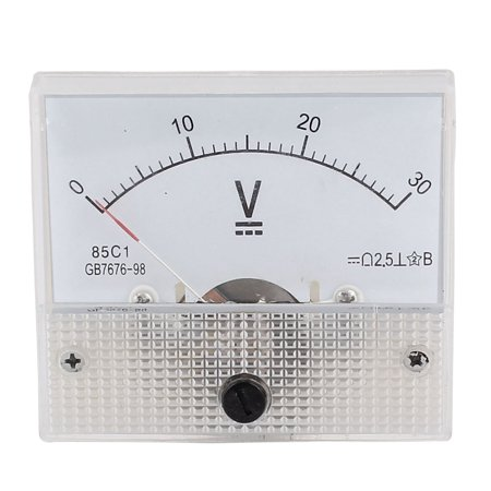 Analog Micro Voltmeter - 85C1 Class 2.5 Accuracy DC 0-30V Range Analog Voltmeter Volt Meter White