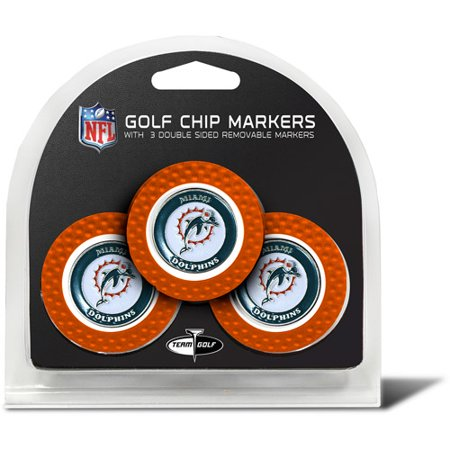 Team Golf NFL Miami Dolphins 3 Pack Golf Chip Ball Markers - Miami Dolphins Nfl Billiard Balls