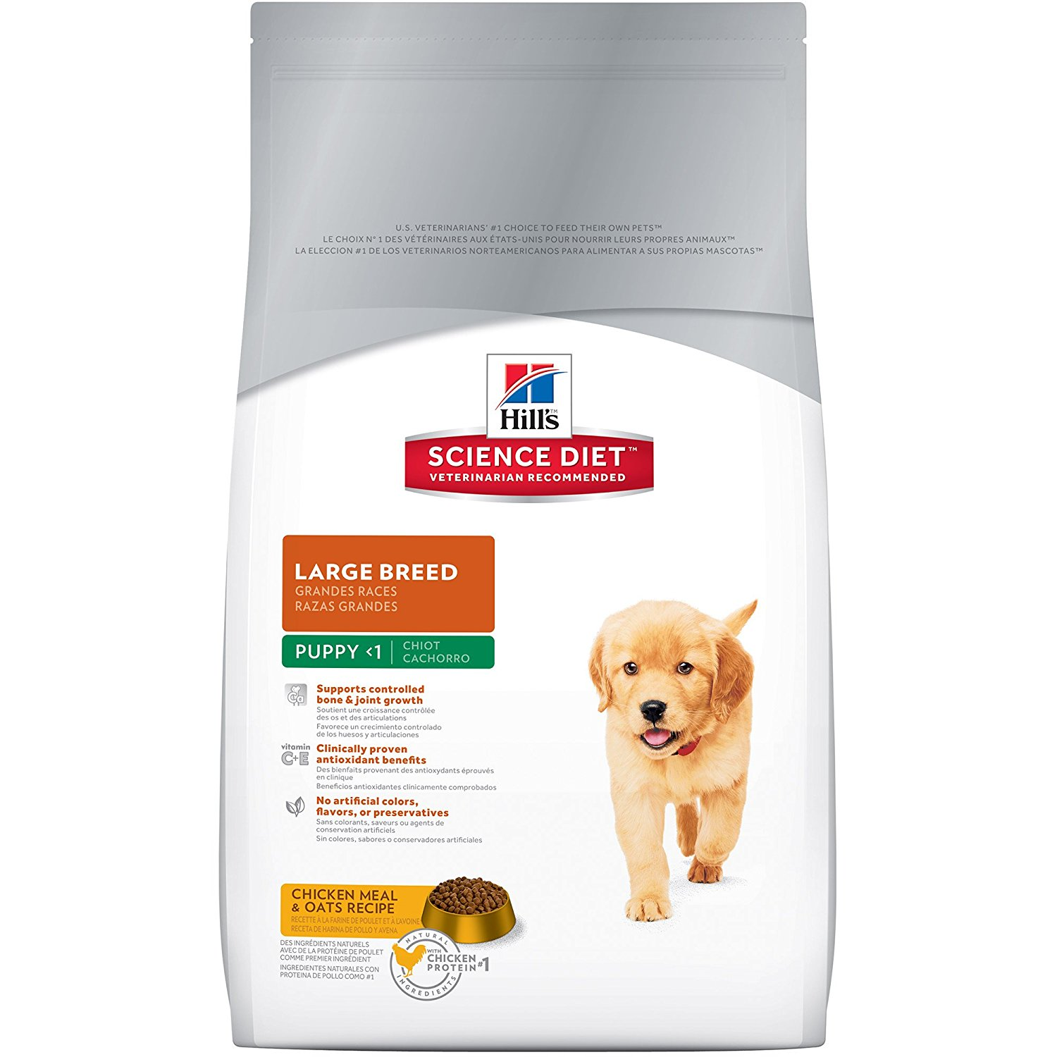 Hills Science Diet Puppy Large Breed Chicken Meal Oats Recipe Dry