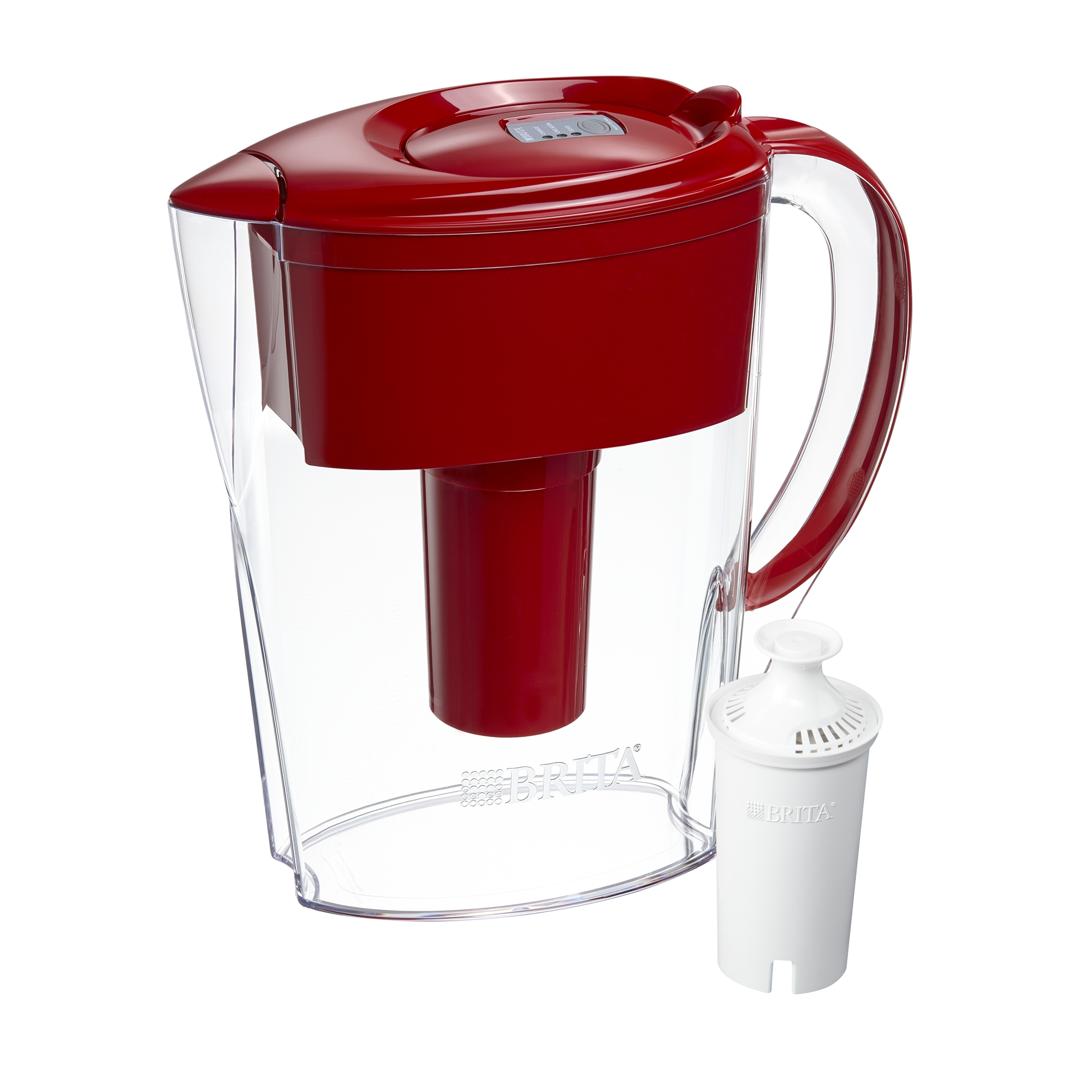 Brita Small Space Saver Water Pitcher with Filter - BPA Free - White - 6 Cup