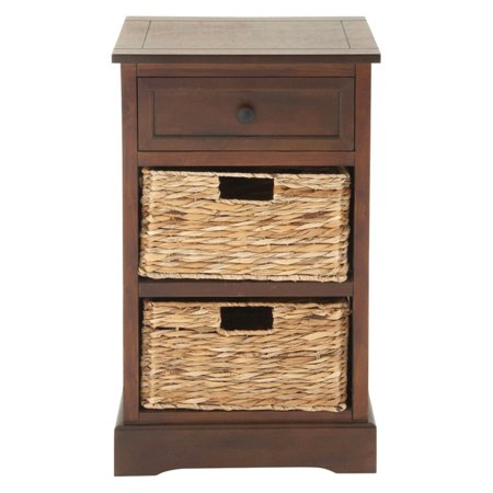 Decmode Traditional 28 X 16 Inch Three Drawer Wooden Side