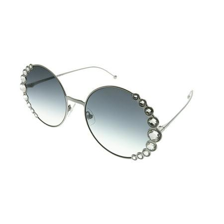Fendi Ribbons And Crystals FF 0324 6LB 9O Womens Round Sunglasses