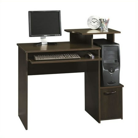 Kingfisher Lane Office Wood Computer Desk in Cinnamon Cherry
