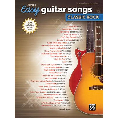 Alfred's Easy Guitar Songs -- Classic Rock: 50 Hits of the '60s, '70s & '80s (Paperback) (Easy Halloween Songs For Violin)