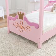 KidKraft Princess Toddler Bed Pink Image 4 Of 9