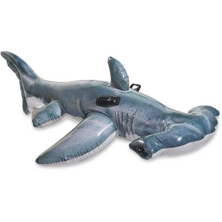 Intex inflatable realistic hammerhead shark ride on float for Shark tank fairy door