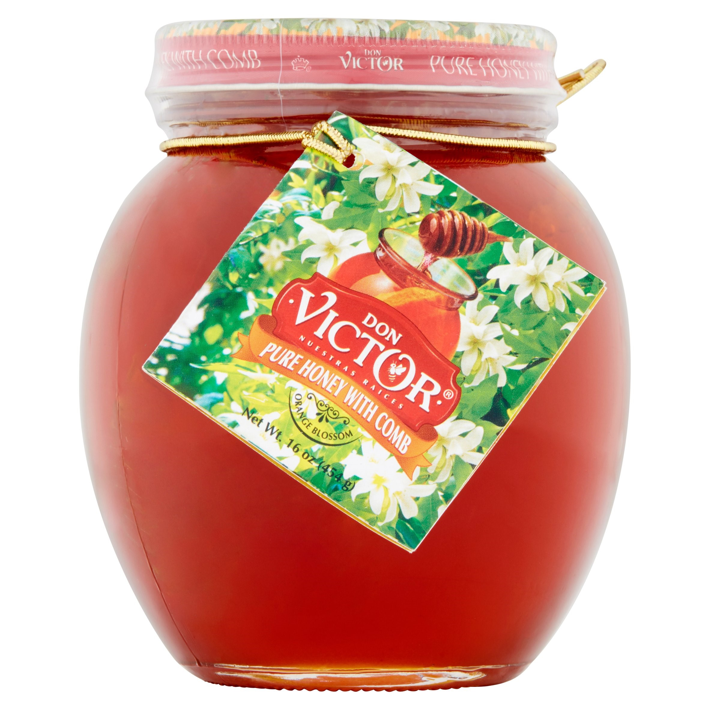 Don Victor Pure Honey with Comb, 16 Oz