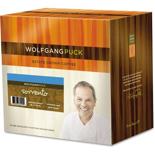Wolfgang Puck 010529 Fractional Coffee Packs, Sorrento, 18/Box