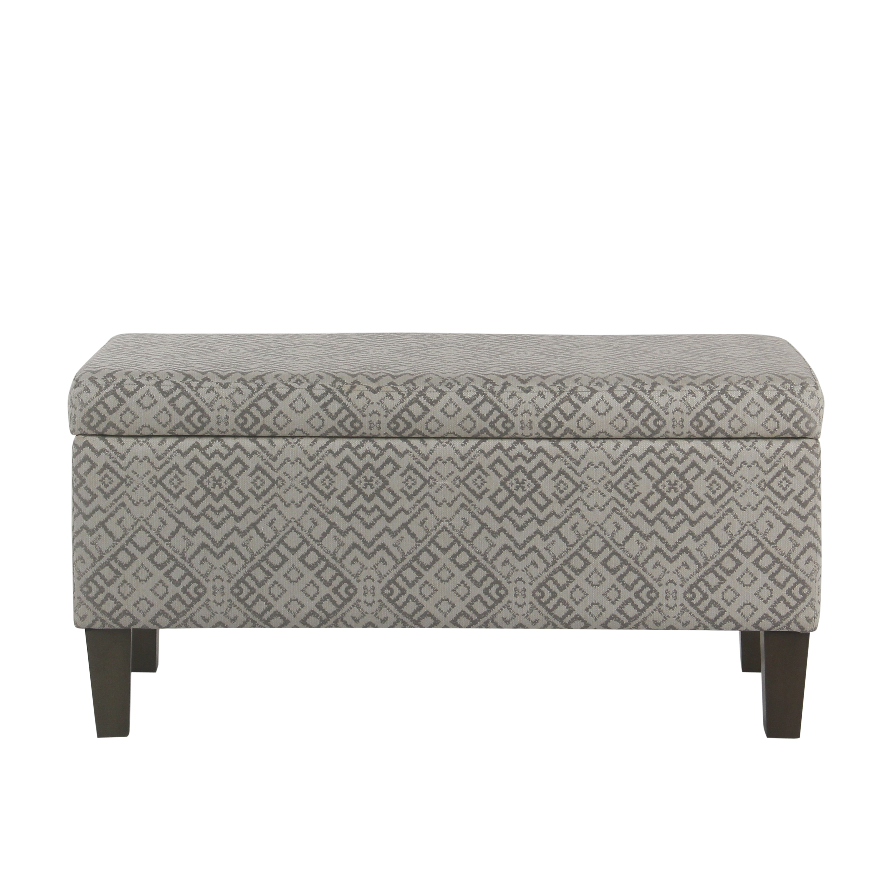 HomePop Large Storage Bench, Gray