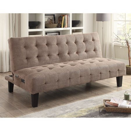 Coaster Sofa Bed, Taupe Textured Chenille