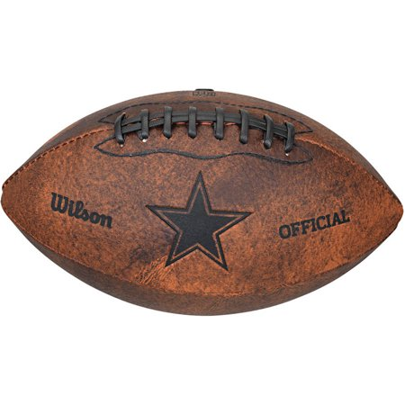 "Wilson NFL 9"" Throwback Football, Dallas Cowboys"