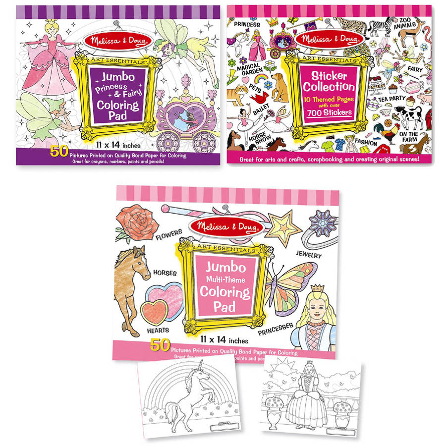 Melissa and Doug Sticker Collection and Coloring Pads