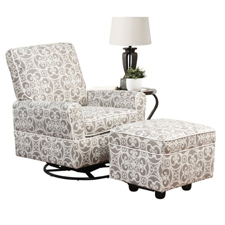 chase swivel glider chair and gliding ottoman. Black Bedroom Furniture Sets. Home Design Ideas
