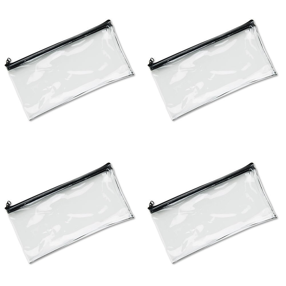 women s bags accessories walmart  product image vinyl zipper wallet 11 x 6 inches clear 234041720 4 packs