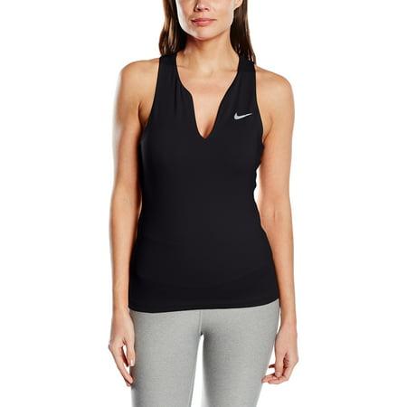 Nike Women's Dri-FIT Pure Black/Matte Silver Tank Top