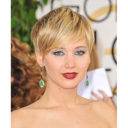 Jennifer Lawrence At Arrivals For 71St Golden Globes Awards   Arrivals 5 The Beverly Hilton Hotel Beverly Hills Ca January 12 2014 Photo By Linda Wheelereverett Collection Photo Print