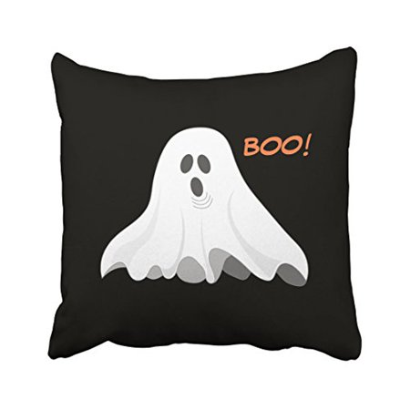 WinHome Vintage Boo Halloween Cute Ghost Popular Pattern Polyester 18 x 18 Inch Square Throw Pillow Covers With Hidden Zipper Home Sofa Cushion Decorative - Cute Halloween Cover Photos