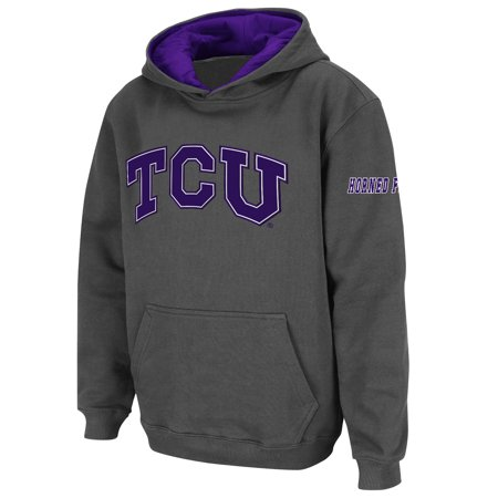 TCU Horned Frogs Stadium Athletic Youth Big Logo Pullover Hoodie - Charcoal