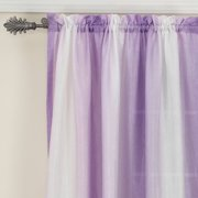 your zone crushed ombre curtain panel, iris