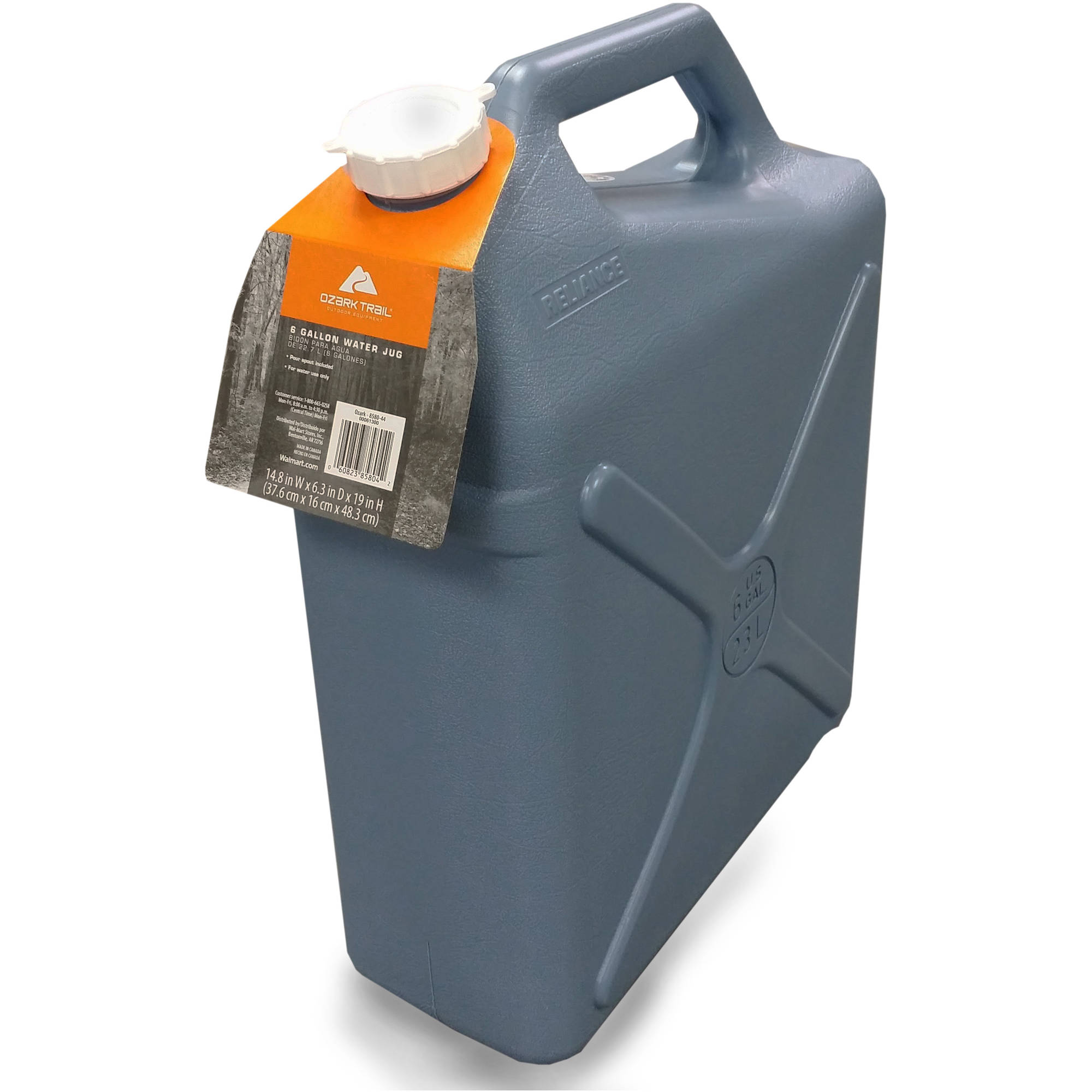 Camping Water Container >> 6 Gallon Water Carrier Jug Jerry Can Style Plastic Container