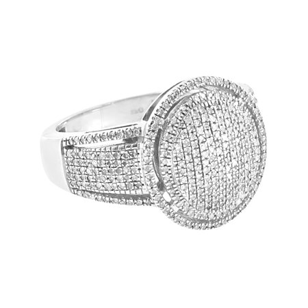Ladies Silver Dome Rings