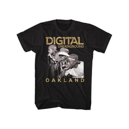 Digital Underground Music Oakland Adult Short Sleeve T Shirt (Underground Chicago Halloween)