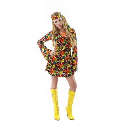 Female Hippy Adult Costume - Hippy Costume Ideas