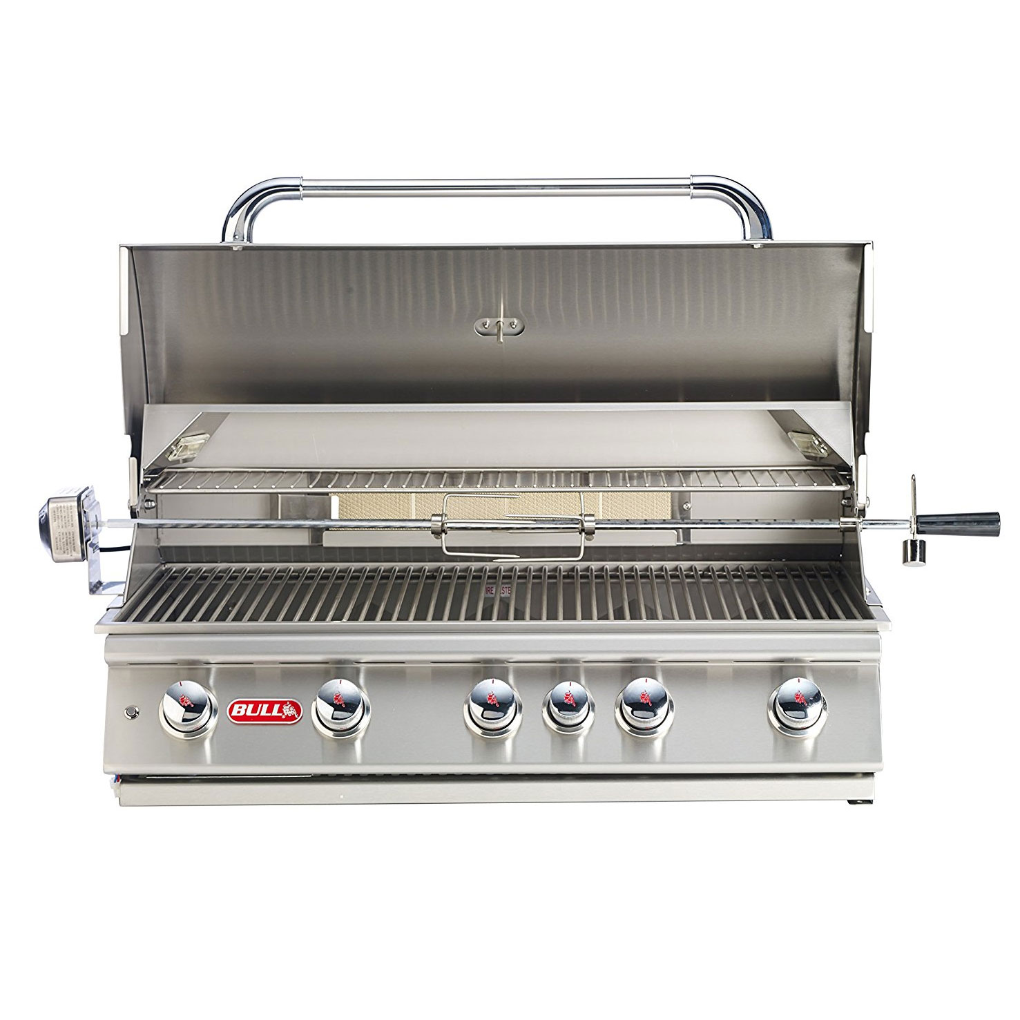 bull outdoor products 5 burner brahma liquid propane outdoor bbq